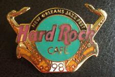 HRC Hard Rock Cafe la Nouvelle Orleans Jazz Festival 1998 Logo saxophone