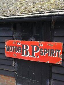 BP enamel sign vitreous BP Motor Spirit sign porcelain sign British Petroleum