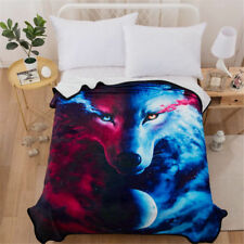Luxury Wolf Faux Fur Throw Rug Sofa Bed Mink Soft Warm Fleece Blanket Animal 1Pc