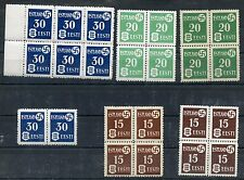 ESTONIA SCOTT#N3/5 LOT OF EIGHT SETS MINT NEVER HINGED BOTH PAPER TYPES INCLUDED