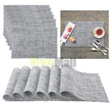 45x30cm Placemats Set of 6 Gray Tableware Dining Kitchen Modern Design PVC Mats