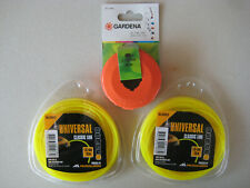 2x Rasentrimmer 15m x 1,3 mm Trimmerfaden Mähfaden Trimmerschnur Orange gelb 30m