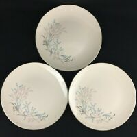 "Set of 3 VTG Dinner Plates 10"" by Edwin Knowles Kalla KNO195 Pink Teal Floral"