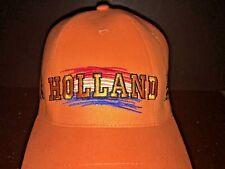 HOLLAND Baseball Hat Adjustable Netherlands 100% Cotton Orange vtg
