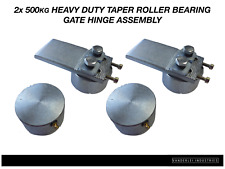 2x 500kg Heavy Duty Taper Roller Gate Hinge Assembly