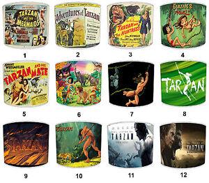 Lampshades Ideal To Match Tarzan Films & Movies Posters, Tarzan Wall Art Murals