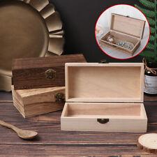 Retro Jewelry Box Desktop Natural Wood Clamshell Storage Decoration WoodenB_cd