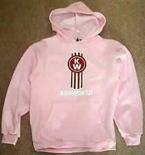 new KENWORTH Trucks Logo TRUCK MACK peterbilt PINK hoodie sweatshirt MEDIUM