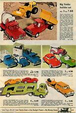 1970 PAPER AD Tonka Wagoneer Stable Structo Big Vista Horse Van Car Carrier Dune