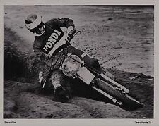 1979 STEVE WISE HONDA Vintage MOTOCROSS PRINT PHOTO CR125R CR250R AHRMA