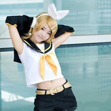 Hot Sell! Kagamine Rin Short Cute Full Party Customs Cosplay wig