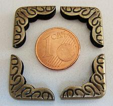 8 ANGLES métal BRONZE déco 16mm coin Cartonnage Scrapbooking