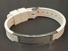 Magnetic Negative ION Power band (Carbon Fiber w/ Stainless Steel) Bracelet -USA