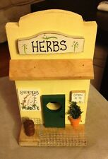 Hand Made & Painted Wooden Birdhouse, Herb Seed Store, Made In Florida USA