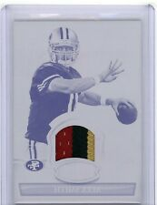 Alex Smith 2010 Bowman Sterling Game Worn 3 COLOR PATCH PRINTING PLATE TRUE 1/1