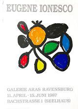 Eugène Ionesco-exposición Galería ara Ravensburg 1987-Cromolitografía