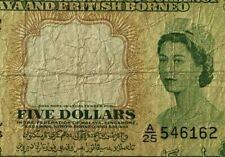 1953 Malaya Queen $5 banknote in collectable grade