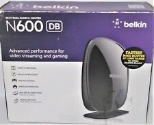 N600 DB Belkin Router Video Streaming & Gaming Faster Advanced Performance Works