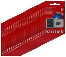 SanDisk 32GB MicroSD SDHC Microsdhc TF Flash Memory Card Wholesale Lot 50