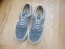 Vans Gris Toile Pont Chaussures Taille UK 6 US 7