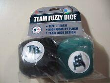 "Team Fuzzy Dice: MLB Tampa Bay Devil Rays, 3"" pair, NEW"