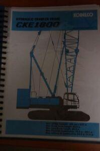 Kobelco CKE1800 Information Manual