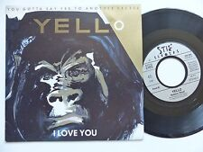 YELLO I love you / Rubber West 105550 France RRR