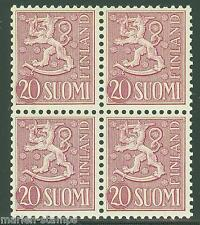 Finland Sc#319 Michel #431 Block Of Four Mint Nh Full Original Gum