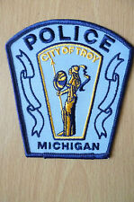 Patches: CITY OF TROY MICHIGAN POLICE PATCH (NEW,apx. 4.10x4.2)