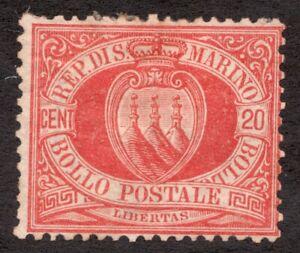 Sc11 / SG11 - San Marino - 20 Cent - 1890 - MH - superfleas - cv  $50