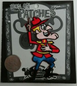 Dudley Do Right Rare Rocky & Bullwinkle Classic Cartoon Iron On Patch 1997
