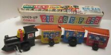 Old Tin W Up Toy Western Comic Zig Zag Express Articulated Train w Box 1960s-70s