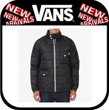 NEW Vans Men's ELLIS Jacket BLACK PUFFER LARGE LG L COAT PARKA