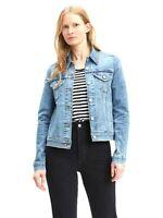 New Levis Womens 29945 0020 Light Blue Button Up Jean Denim Trucker Jacket Small