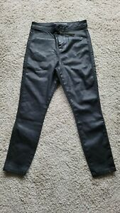 ASOS black Coated Skinny Jean High Waisted Size 10 W 28 L 28 BNWT