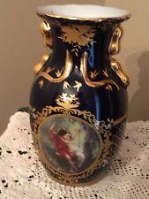 Portrait Vase Bavarian Porcelain  Art Nouveau Double Sided