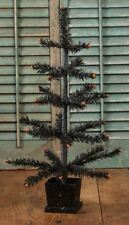 Ragon House Black Halloween Tree with Orange Tips and Black Base