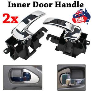 2X Front/Rear LH RH Inner Door Handle For Nissan Navara D40 Pathfinder R51 05~13
