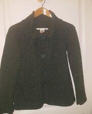 MAX STUDIO Lambswool Speckled Cardigan Sweater  XS  Green/Gray