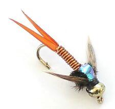 3 X Trout Fishing Flies GOLD HEADED NYMPHS  33J X 3 X COPPER JOHNS