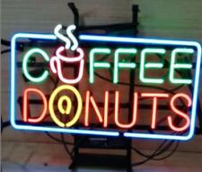 "17""x14""Coffee Donuts Neon Sign Light Cafe Store Open Wall Decor Advertising Sign"