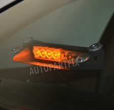 8 LED Amber Yellow Emergency Vehicle Car Strobe Flash Light Warning Dash Bar