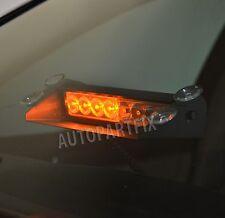 8 LED Amber Yellow Emergency Vehicle Car Strobe Flash Light Warning Dash Bar