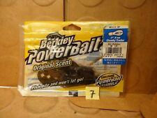 "Berkley PowerBait 3"" Chunky Trailer, Geern Pumpkin, #MPCT3-GP, 5 Count (New)"