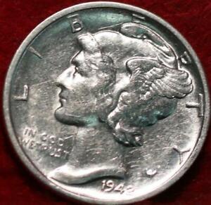 Uncirculated 1942-D Denver Mint Silver Mercury Dime