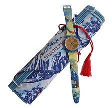 JAPANESE SCROLL (THE LAKE)! Elegant JAPANESE ART  Swatch LTD SP PK! NIP-RARE!