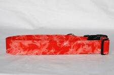 """1.5"""" Large Snap Closure Dog Collar Red Tie Dye"""