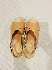 Charles & Keith PU Platform Wedge Shoes, Size 39 Brown