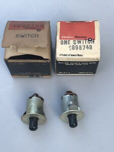 NOS 1958 59 60 61 62 CHEVY IMPALA  DOME LIGHT SWITCHES PAIR GM