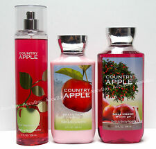 3pc Set COUNTRY APPLE Fine Fragrance Mist Lotion Shower Gel Bath and Body Works